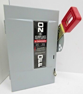 GE THN3321 New Safety Switch Disconnect 30 Amp 240 Volt No-Fuse Indoor NIB