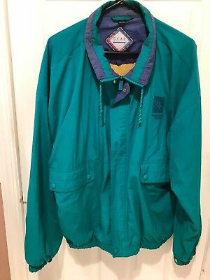 Extra Large XL Green Continental Airlines Windbreaker Type Jacket