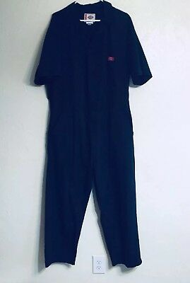 DICKIES Vintage Mens Size 48 XL Regular Coveralls Working Mechanic Jumpsuit Blue