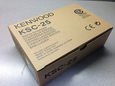 Geniune Kenwood KSC-25 Rapid Charger for 2 way Radio Battery in box New