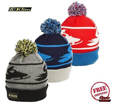 Klim 2019 Bomber Poof Beanie W/ Cuff Poofy Top Snow Snowmobile New Free Shipping