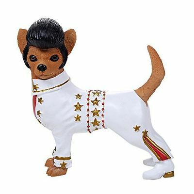 """The King Chi Chi Chihuahua Figurine 4.75"""" Height Elvis Costume Dog Statue"""