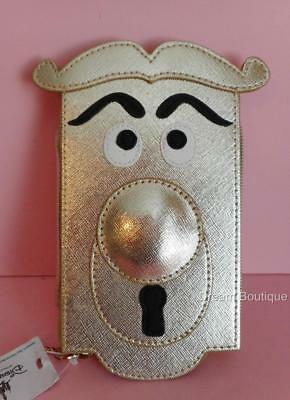 Disney Resort Alice in Wonderland Door knob Zippered Pouch NWT Disneyland