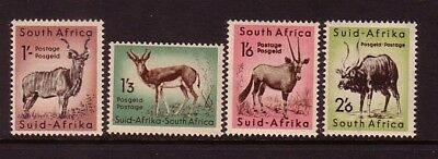 SOUTH AFRICA....  1954  1/-, 1/3, 1/6, 2/6  animals  mint