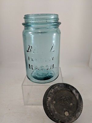 Pint Ball Blue Ball Perfect Mason Block Letter Jar