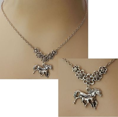 Horse Necklace Foal Silver Pendant Jewelry Handmade NEW Adjustable Accessories