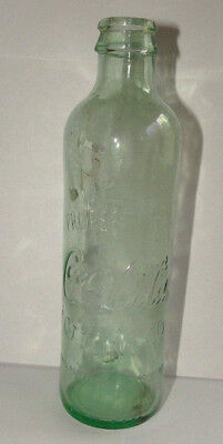 Vtg Property Of Coca-Cola Bottling Co. Green Tint Bottle