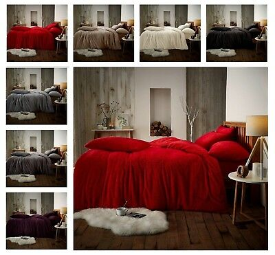Luxuries TEDDY BEAR Fleece Fitted Sheet Or Duvet Cover+ Pillow Case Bedding Set