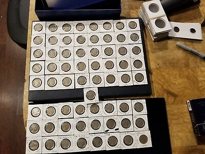 1919-1938 Set of Buffalo Nickels (65 coins) All Mint Marks/Semi-Key Dates (#btc)