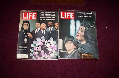 Life Mags March 26,1965 Martin Luther King In Selma&april 19,1968 Mlk's,funeral