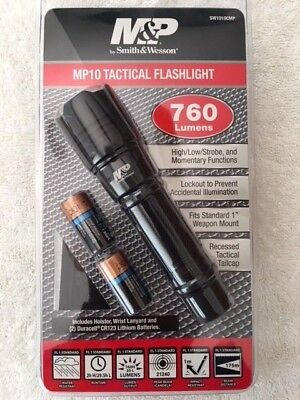 NEW Smith & Wesson MP10 Tactical Flashlight 760 Lumens SW1010CMP