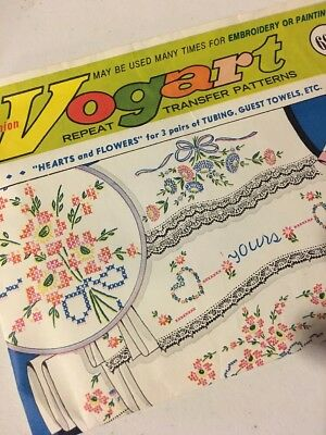 Vogart 628 229 Vintage Hand Embroidery Transfer Pattern Wedding