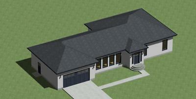 Modern Style House Plans 1570 sq.ft. by Designerswest*