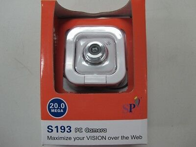 USB Webcam - PC Camera with Mic 20 Mega pixel up to 30fps S193 CLEARANCE F43