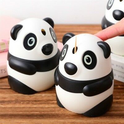 Novel Panda Toothpicks Holder Automatic Pop-Up Toothpick Box Dispenser Case Gift