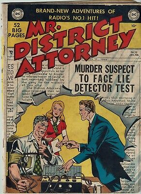 Mr District Attorney 13 Dc Pre Code Crime 52 Pages Golden Age Gd/vg