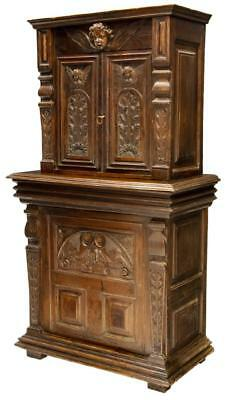 FRENCH RENAISSANCE STYLE BEAUTIFULLY CARVED OAK BUFFET, 19th century ( 1800s )