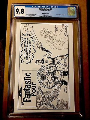 Fantastic Four #1 CGC 9.8 (2018) Jack Kirby Hidden Gem Sketch Variant NM MARVEL