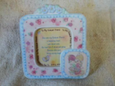 """Precious Moments 4"""" x 4"""" Picture Frame 1998 """"To my forever friend"""" -Brand New"""