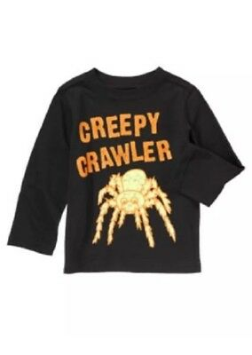 NWT Crazy 8 Creepy Crawler Halloween shirt Baby Boy glow in dark Gymboree 12-18