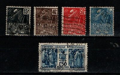 France 1930 Colonial Exhibition  SG488-92 Used