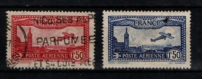 France 1930 Airmail  SG483-84 Used