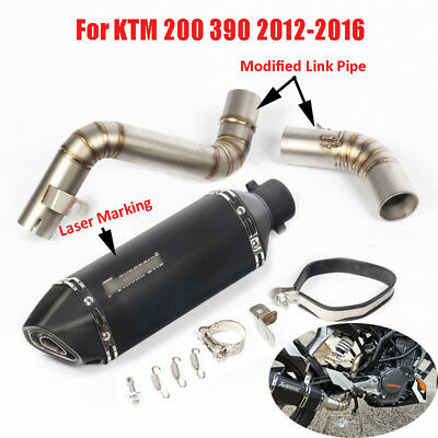 Slip Motorcycle Exhaust System Muffler Mid Link Pipe For KTM 200 390 2012-2016