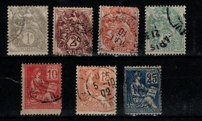 France 1900 Blanc and Mouchon types selection to 25c Used