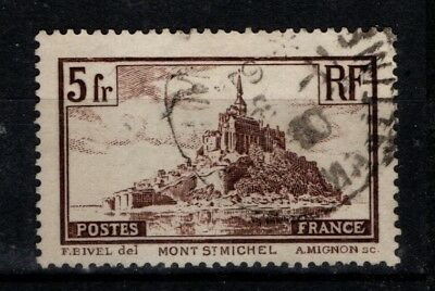 "France 1929 5Fr Mont Saint Michel ""Broken Spire"" variety SG473a Used"