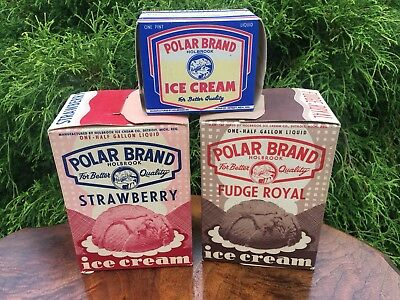 Group Of Vintage Ice Cream Containers Boxes Dairy Soda Fountain Advertising #3