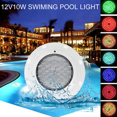 12V 10W RGB Swimming LED Pool Bulb Spa Underwater Light IP68 Waterproof Lamp New