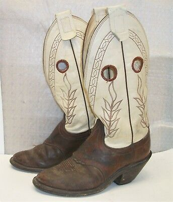 OLATHE Buckaroo Cowboy Western Boots Brown Men's 9 E Used Nice Condition U.S.A.