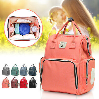 Maternity Nappy Baby Diaper Travel Backpack Mummy Bag Large Capacity Waterproof