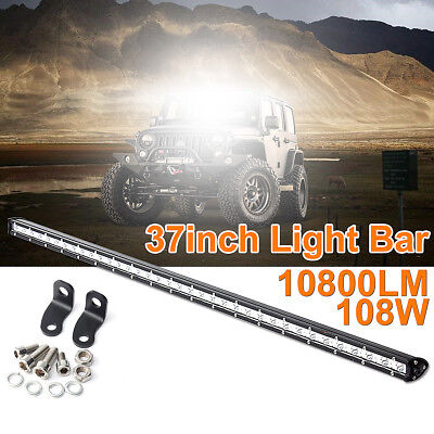 37''inch 108W Slim LED Work Light Bar Spot Beam Driving Lamp Offroad Truck SUV