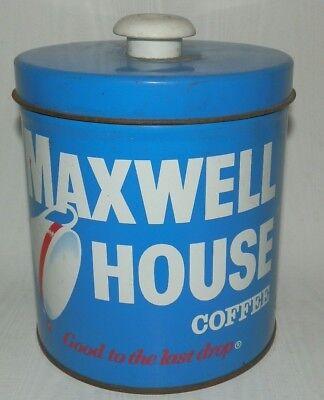 """Maxwell House Coffee Canister With Lid """"Good To The Last Drop"""""""