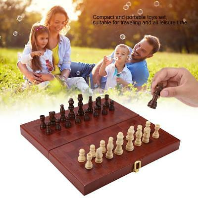 3 in 1 Folding Wooden Contemporary Chess Set Board Game Checkers Backgammon New