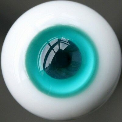 [PF] 14mm Blue And Turquoise Glass Eyes Outfits For BJD Doll Dollfie Glass Eye
