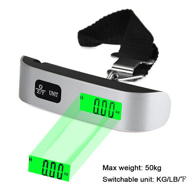 50kg /110Lb LCD Travel Portable Handheld Weighing Luggage Scales Suitcase Bag