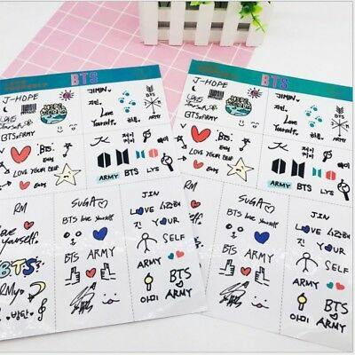 Kpop BTS Member Hand Drawing Cute Clear Sticker for Phone Luggage Scrapbook DIY