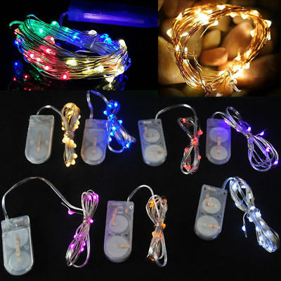 10/20/30/50 LED Battery Power Operated Copper Wire Mini Fairy Lights String Xmas