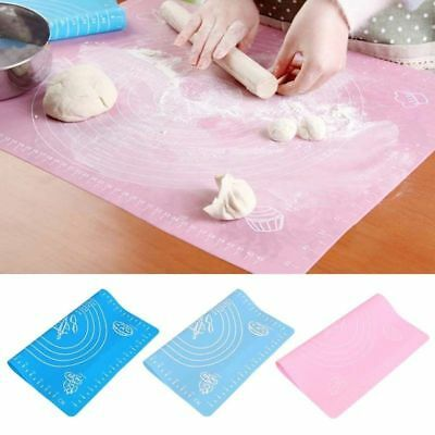 Silicone Mat Rolling Cut Mat Sugarcraft Fondant Pastry Icing Dough Tool Kitchen