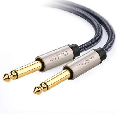 UGREEN Guitar Cable 6.35mm Mono Jack 1/4 Inch TS Unbalanced Patch Cable Braided
