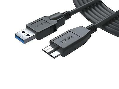 Pwr+ 12 Ft USB 3.0 Micro-B plug Data Sync Cable for External HDD WD My Passport,