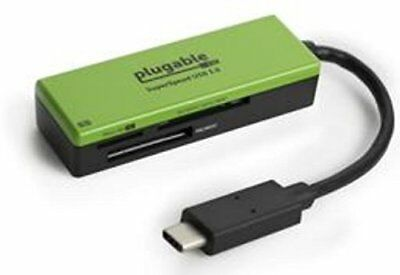 Plugable USB Type-C (USB-C) Flash Memory Card Reader - Compatible with Late 2016