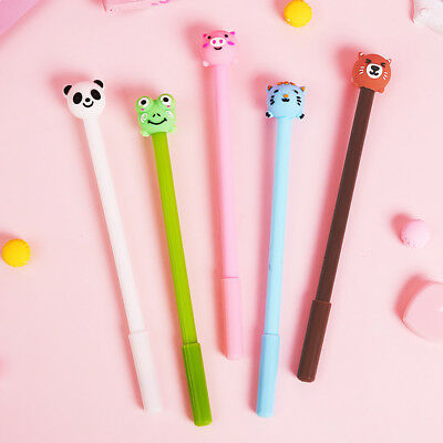Cartoon Cute 0.5mm Black Gel Pen Student Office Writing Stationery Reliable New