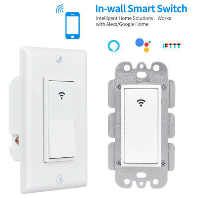 WiFi Smart US 1/2/3 Gang Touch Panel Switch Wall Light Control Timing Remote
