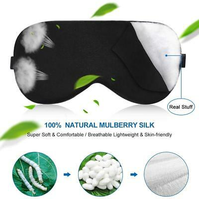 Silk Sleep Mask, UXUNNY 100% Natural Mulberry Silk Eye Masks for Sleeping, Super