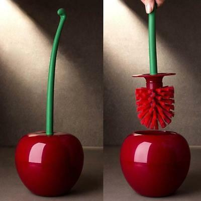Innovative Cherry Toilet Brush Lavatory Cleaning Tool Bathroom Home Accessory DE