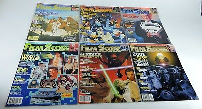 Film Score Monthly Magazine Lot of (6) issues: 1998, 1999, 2000, 2001, 2002