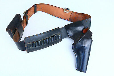 Vintage Duty Belt Holster Cuffs Ammo BIANCHI #99 T REVOLVER S&W BLACK LEATHER